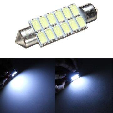 42 mm 5630 12smd ornano l'interno di mappa di cupola LED la luce di lettura di bulbo di lampada leggera