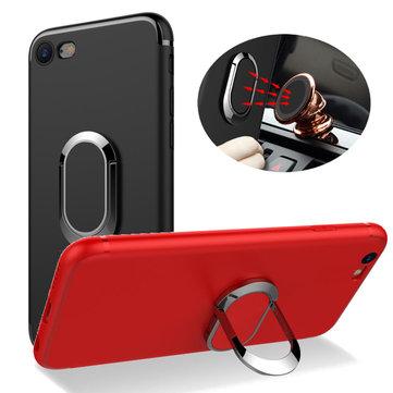 Bakeey™360°VerstelbareMetalen Ring Kickstand Magnetische Frosted Soft TPU Case voor iPhone 6Plus 6sPlus