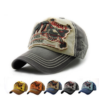 baseball cap embroidery melbourne blanks hat machine unisex cotton washed skeleton vintage skull adjustable golf