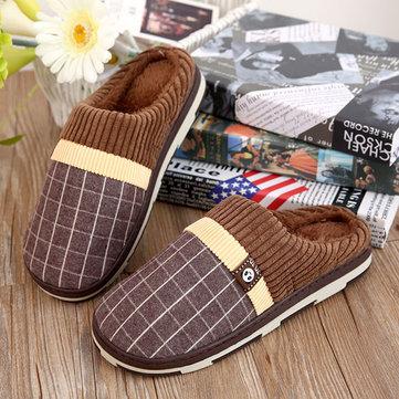 Nuove scarpe uomini di casa mantengono cotone coperta calda felpa comodo slip-on scarpe pantofola