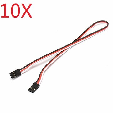 10X 22AWG 60core 30cm Male to Male JR Plug Servo Extension Wire Parallel Cable