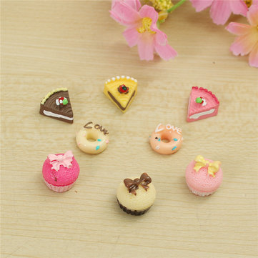 8PCS 1/12 Cute Dollhouse Miniature Kitchen Food Cakes Creative Kids Play Set Doll House Accessories