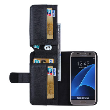 7 Card-slot Multi Functions Wallet Leather Case For Samsung Galaxy S7