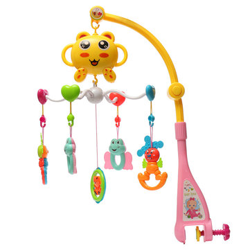 Melodies Song Baby Mobile Crib Bed Bell Kid Electric Music Box Love Soft Plush Dolls Toy