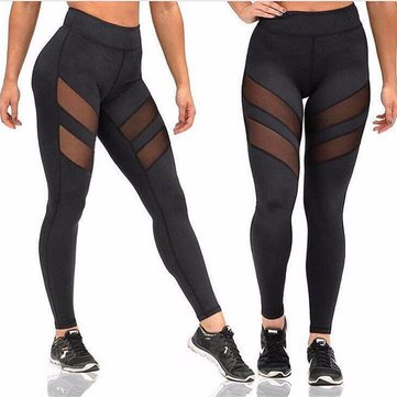 Vrouwen Four Seasons Sport Yoga Sexy Pants Leggings Openwork Perspectief Hechten Fitness Gym