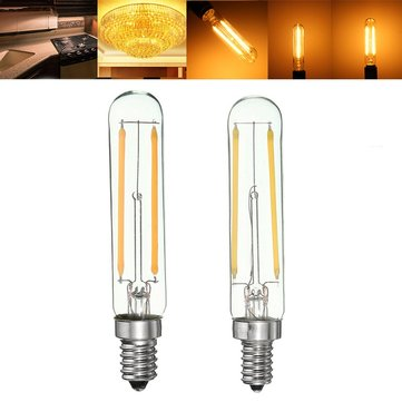 dimmable retro 2w e12 e14 t20 led cob filament bulb warm white