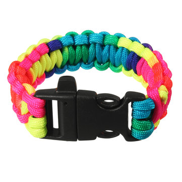 IPRee® Outdoor EDC Survival Bracelet Emergency Seven Core Dacron Umbrella Rope Paracord Kit