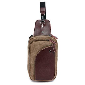 Men Casual Sling Bag Outdoor Travel Chest Shoulder Crossbody Bag ...