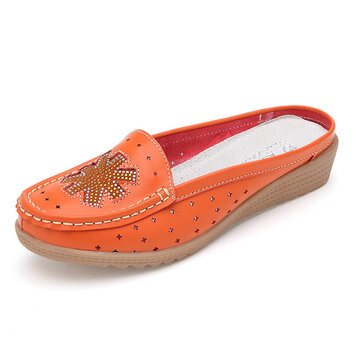Casual Hollow Out Slip On Flat Loafers Voor Vrouwen
