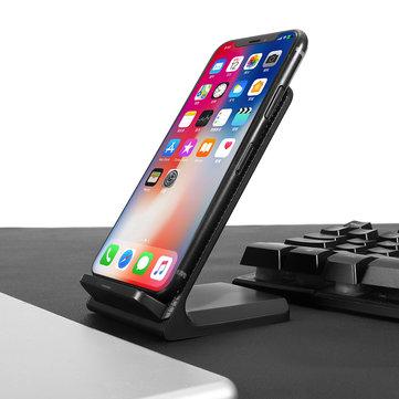 3 bobinas grandes Qi Soporte de cargador inalámbrico inalámbrico Soporte de estación Base para Note 8 S8 iPhone 8 X Plus
