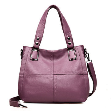 Women PU Leather Classic Handbag Crossbody Bag