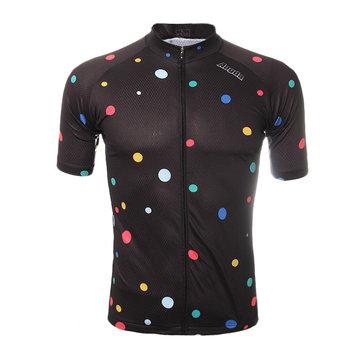 Sport mens equitazione Maglia ciclismo veloce della bicicletta secco manica corta in poliestere traspirante abbigliamento sportivo