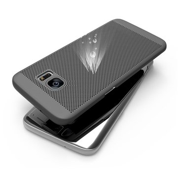 Malla Disipating Heat Anti Fingerprint PC Caso para Samsung Galaxy S6 Edge