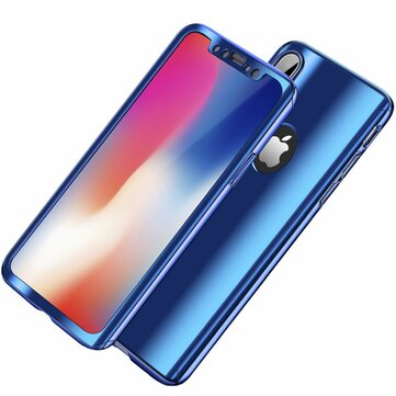 Bakeey Plating 360° Full Body Case+Tempered Glass Film For iPhone X/8/8 Plus/7/7...