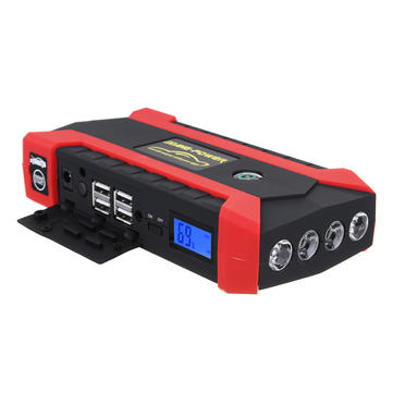 89800 mAh 12V 4 USB Car Jump Starter Pack Booster Charger Battery Power Bank Kit