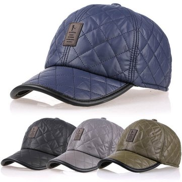 Men Male Earflap Earmuffs Baseball Cap Adjustable Blank Waterproof Golf Sport Outdoor Hat