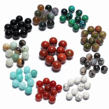 10mm 10Pcs Multicolor Round Stone Loose Beads DIY Beaded Accessories