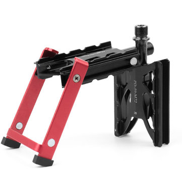 Promend PD-M72 9/16 Folding Mountain Bikes Pedal with Kickstand Superlight Road Bicycles Stand Holder Portable Storage Aluminum Alloy