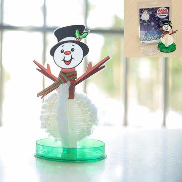 JA Magic Growing Snowman Blossom Paper Tree Blossom Paper Art Kids Educational Toy Decor
