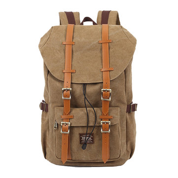 KAUKKO Men Women Canvas Nylon Outdoor Camping Travel Laptop Backpacks
