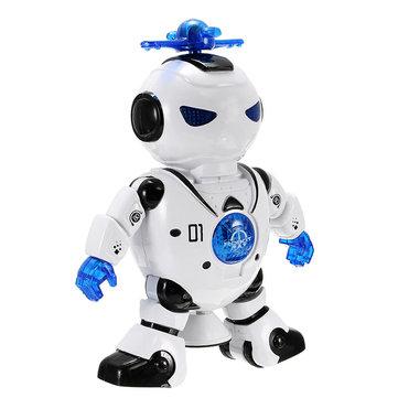 Lezhou Intelligent Dancing Robot met LED Licht Muziek voor Kids Toy
