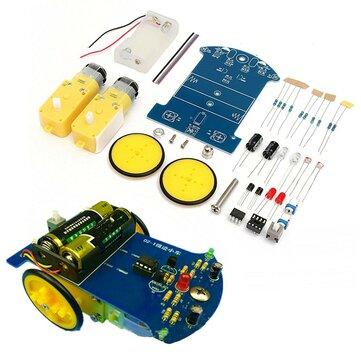 DIY Akıllı İzleme Robotu Araba Elektronik Kit Azaltma ile Motor Set