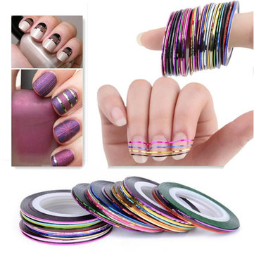 10 color striping tape line nail art decoration sticker us117 10 color striping tape line nail art decoration sticker prinsesfo Image collections