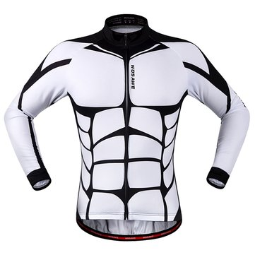 WOSAWE Spring And Autumn Bicycle Muscle Jersey With Reflective Stripe Three Pockets Clothes