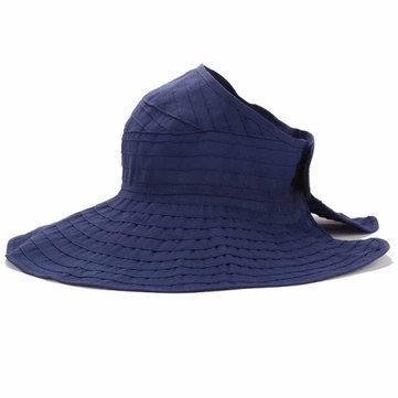 Donne pieghevole Sun Beach di protezione cappello di estate all'aperto Giardinaggio anti-UV Wide Brim Visor Cap