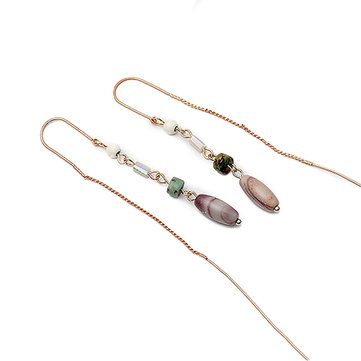 Fashion Beads Alloy Long Pendant Earrings Jewelry for Women
