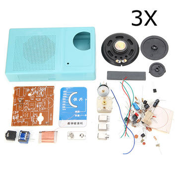 3Pcs AM Radio DIY Kit de aprendizaje electrónico