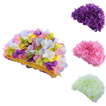 Flowers Design Cap Delicate Personalized Three-dimensional Petal Swimming Caps for Long Hair Sale