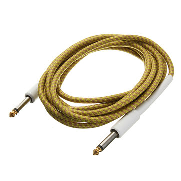 3M Guitar Cable Yellow Braided Tweed Cord Wire for Guitar Bass
