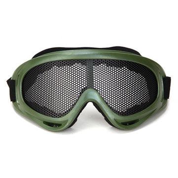 Viento de protección de ojos de la malla metálico neto táctico x400 gafas de anteojos para airsoft paintball deportes al aire libre
