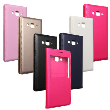 Flip Synthetic Leather Cover Case For Samsung Galaxy Grand Prime G530