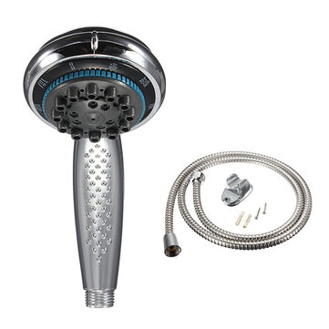 5mode chrome bathroom handheld shower head set with 15m hose
