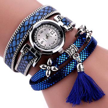 DUOYA Mode Sangle avec Motif en Serpentin Dames Montre-bracelet Femme Occasionnels Montre Quartz