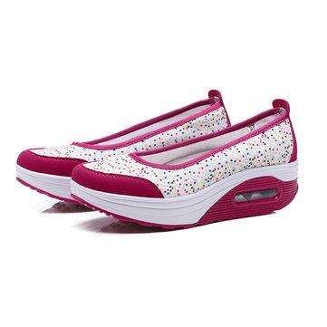 Buy US Size 5-10 Women Casual Outdoor Sport Breathable Rocker Sole Shoes Flat Athletic Shoes for $33.00 in Banggood store