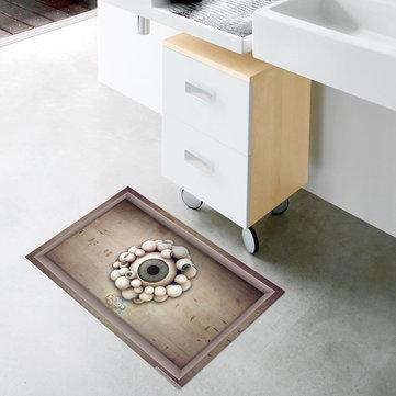 Pag 3d banheiro anti padrão globo ocular deslizamento chão etiqueta impermeável chuveiro lavável decoração do quarto
