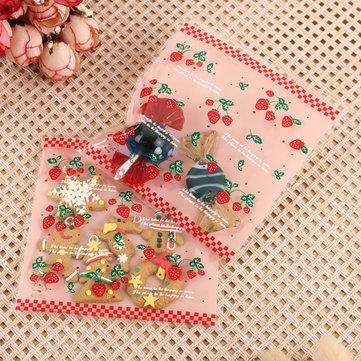 Image of 100PCS Weihnachtsplätzchen Süßigkeit Taschen Geschenkpackaging Bag