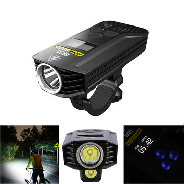 Nitecore BR35 1800LM 2x XM-L2 U2 OLED Display Dual Distance Beam 6800mAh Lithium Battery Rechargeable Bike Front Light