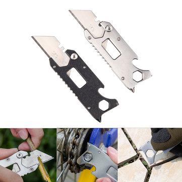 IPRee® 6 In 1 EDC Mini Pocket Paper Cutter Multi-functional Folding Knife Opener Wrench
