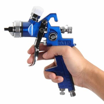 HVLP Gravity Feed Spray Tool Car Vehicle Paint 1.4MM 1.7MM 2MM Buse 600CC Cu