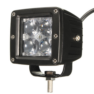 12W 4 LED Work Light Floodlight with Lens for ATV SUV Truck Car Motorcycle