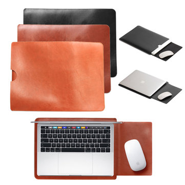 PU lederen laptop sleeve tas hoes Pouch Cover voor MacBook Air / Pro 13