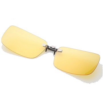 polarized clip on sunglasses sun glasses driving night vision lens for plastic frame glasses