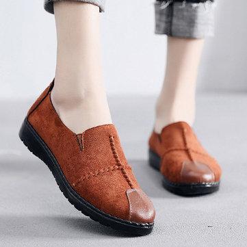 ЖенскоеПовседневнаязамшеваянакладканаBreathable Soft Sole Loafers