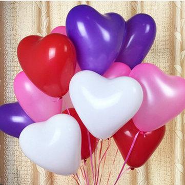 100pcs 12Inch Love Heart Balloon Balloons Valentine Proposal Wedding Party  Decoration