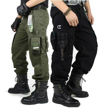 Tácticas militares al aire libre de los pantalones de carga de múltiples bolsillos alpinismo de los pantalones largos