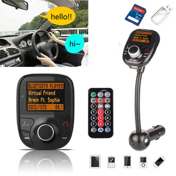 Bluetooth Car Hands Auto FM Transimittervs Modulatore TF Lettore MP3 USB Caricatore